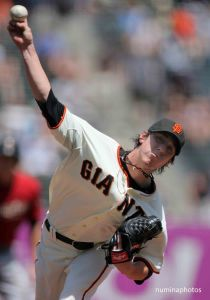 May 15: Giants' #55 Tim Lincecum pitches during Astros 8-7 win over the Giants in San Francisco.