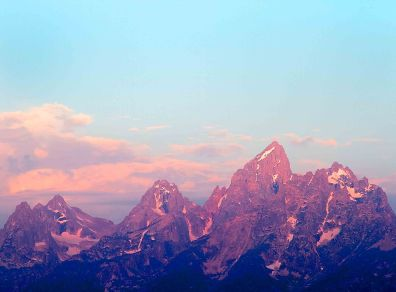 Dawn at the Tetons