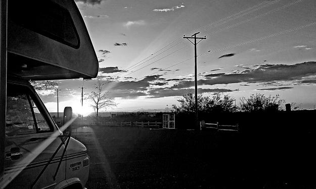 El Paso Sunset B&W
