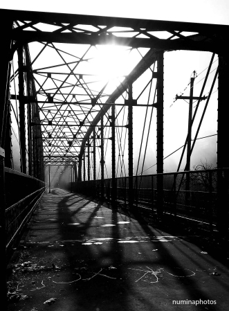 Guerneville Bridge b&w