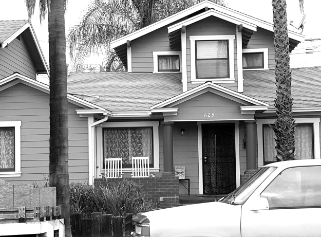 Long Beach House b&w