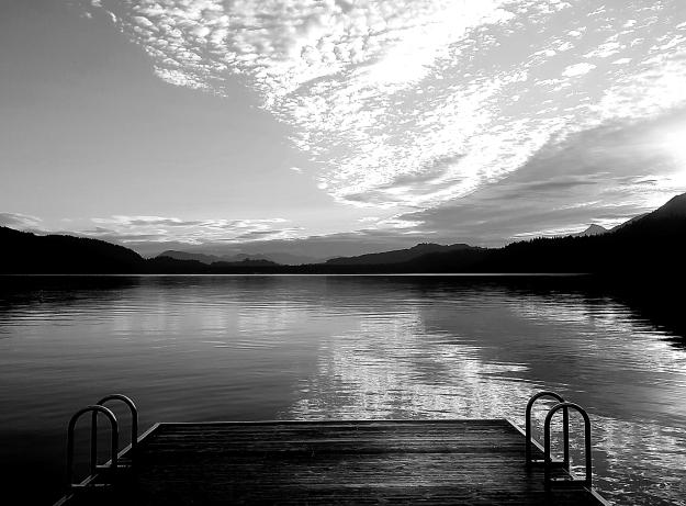 Cultus Lake b&w