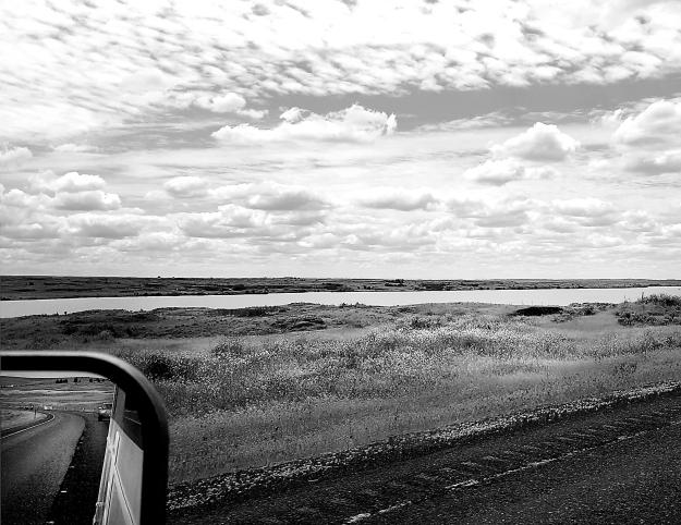 Driving East Washington b&w