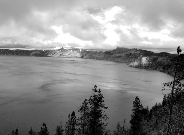 Crater Lake bw small