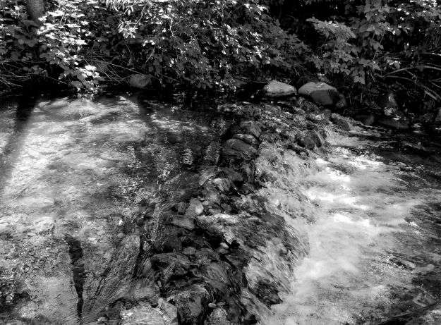 Dutch Flat waterfall bw small