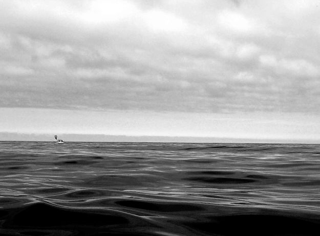 Out on the water small bw
