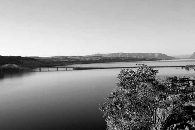 Columbia River bw